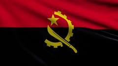Flag of Angola looping Stock Footage