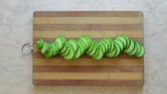 Division of cucumber - stock footage