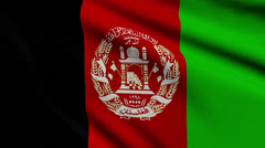 Flag of Afghanistan looping Stock Footage