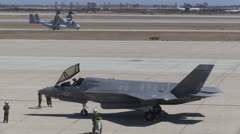 F-35B Lightning II Landing At MCAS Miramar Stock Footage