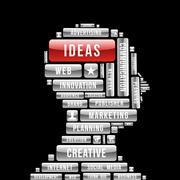 Marketing ideas human head Stock Illustration