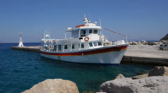 The Kamari ii, Kefalos harbour Stock Footage