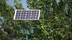 solar cells renewable energy. - stock footage