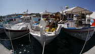 Stock Video Footage of Fishing boats in Kefalos, Fisheye.