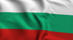 Stock Video Footage of Bulgaria Weave Textured Flag Loop