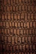 Nailed keys Stock Photos