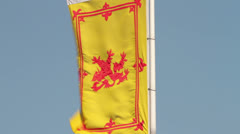 Royal standard of scotland flag Stock Footage