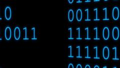 Binary Code 021 - Blue - 24 fps - stock footage
