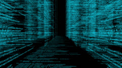 Data Code 012 - Blue - 30 fps - stock footage