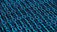Binary Code 029 - Blue - 30 fps - stock footage