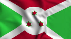 Burundi Weave Textured Flag Loop Stock Footage