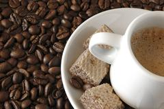 expresso detail - stock photo