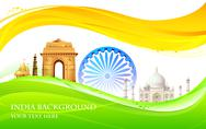 India Background Stock Illustration