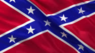 Stock Video Footage of Seamless loop of the Confederate Flag