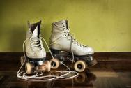 Stock Photo of old roller-skates