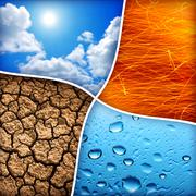 Four elements Stock Photos