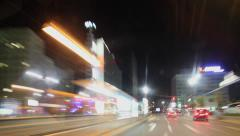 Timelapse drive through Berlin Mitte Stock Footage
