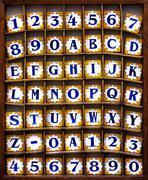alphabet tiles - stock photo