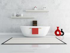 Elegant modern bathroom Stock Illustration