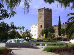 portuguese castle - stock photo