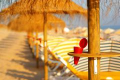 beach ashtray - stock photo