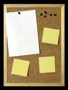 paper sheet on corkboard - stock photo