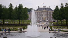 Visitors at Loo Palace, Netherlands Stock Footage