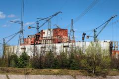 reactors 5 & 6, chernobyl - stock photo