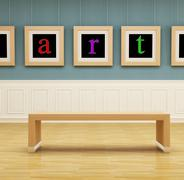 Art gallery Stock Illustration