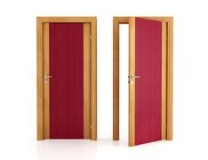 two elegant wooden door - stock illustration