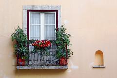 Flowery balcony Stock Photos