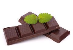 chocolate bars stack - stock photo