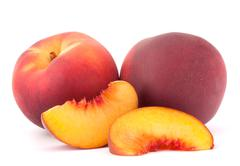 Ripe peach fruit Stock Photos