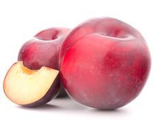 Ripe plum  fruit Stock Photos