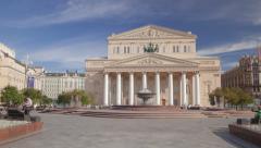 Bolshoi Theatre hyperlapse 4K - stock footage