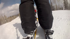 skiing fast down a hill - stock footage