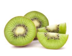 Kiwi fruit sliced segments Stock Photos