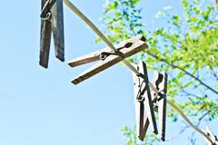 clothes pins - stock photo