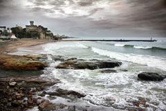 estoril coastline - stock photo