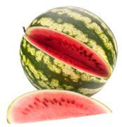 sliced ripe watermelon - stock photo