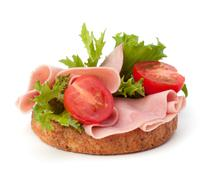 Stock Photo of healthy sandwich with vegetable and smoked ham