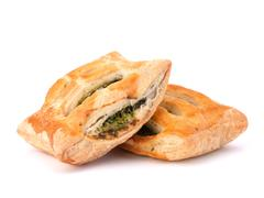 puff pastry bun isolated on white background. - stock photo