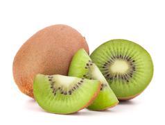Stock Photo of whole kiwi fruit and his segments