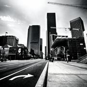 Downtown Strip - stock photo