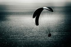 HangGlider over Ocean - stock photo