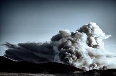 Huge Fire Cloud - stock photo