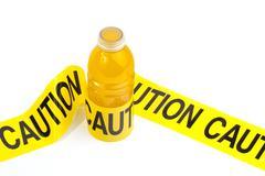 High sugar, sport drink warning Stock Photos
