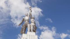 Worker and Kolkhoz Woman hyperlapse Stock Footage