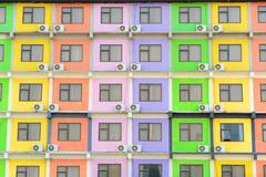 multi colored apartment - stock photo