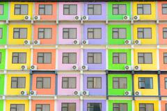 Multi colored apartment Stock Photos